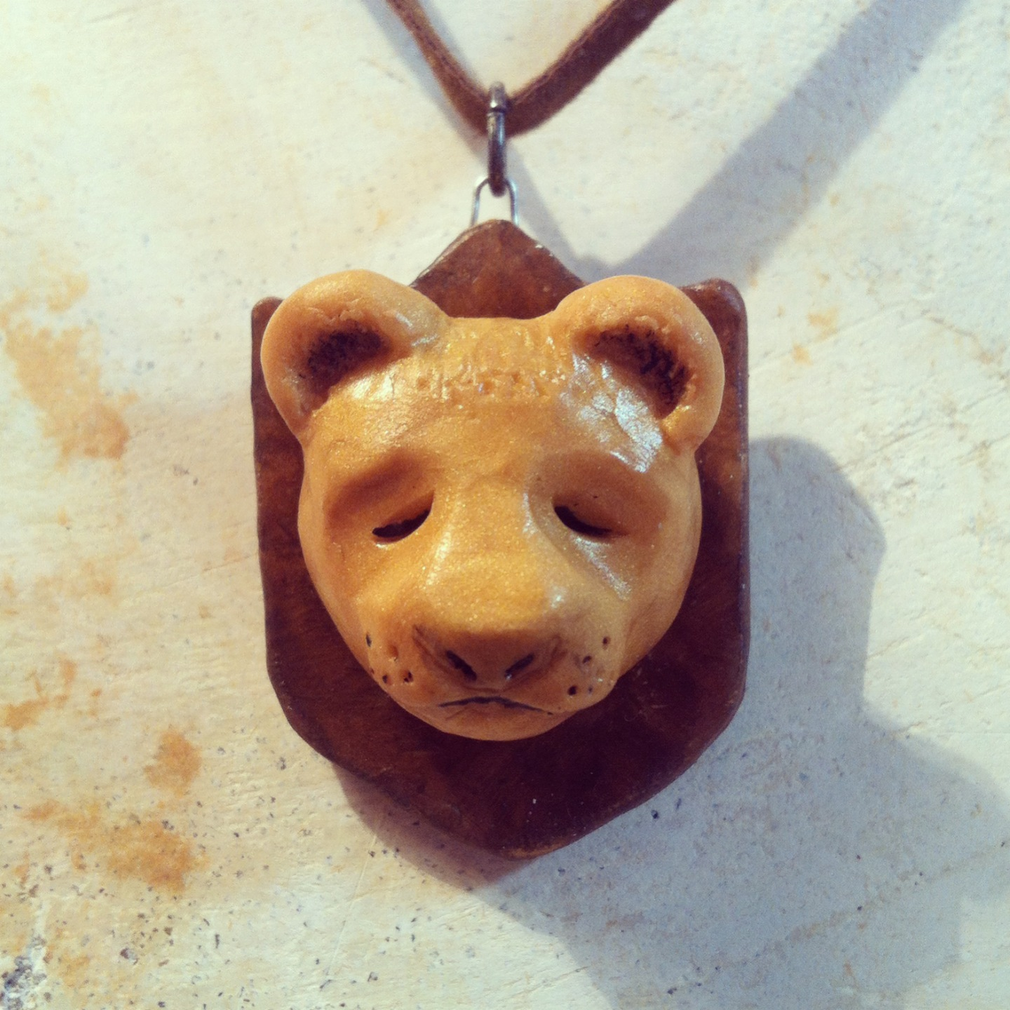 Sleepy Bear Trophy Pendant