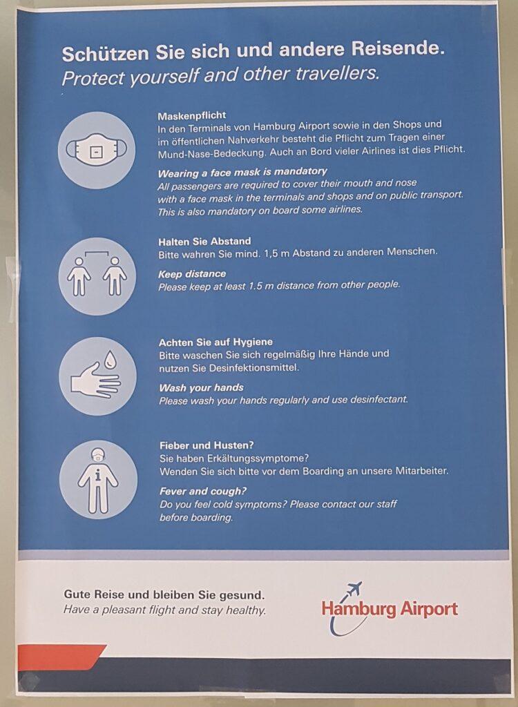 Hamburg airport Safety Instruction covid-19