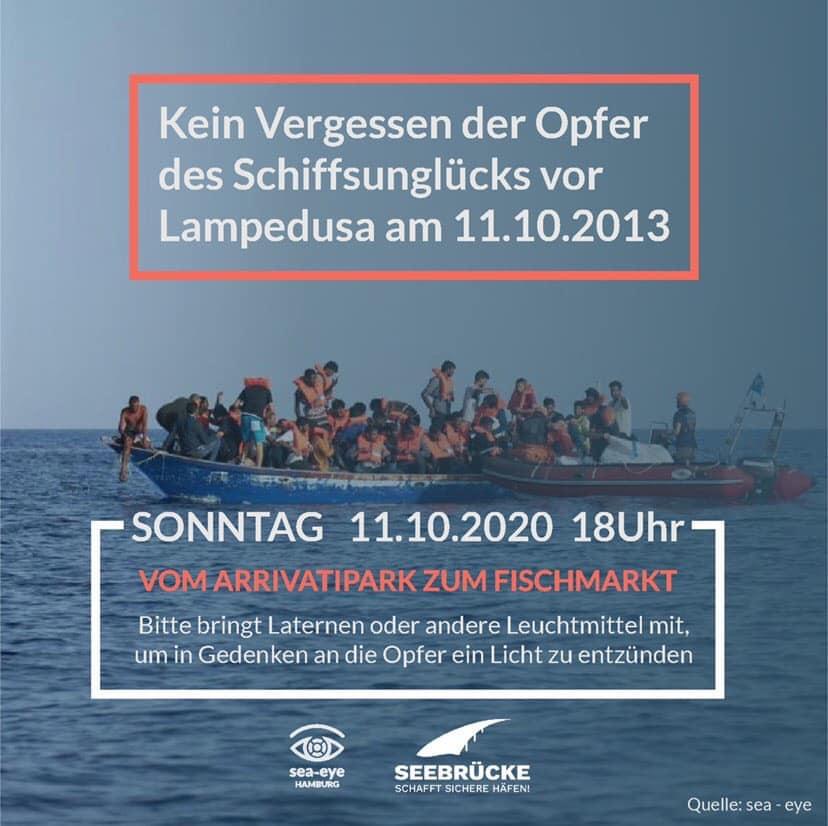 LeaveNoOneBehind Sea-Eye Gruppe Hamburg Demo